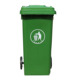 Eco-Friendly recycling outdoor green 240 liter garbage plastic bins with lid