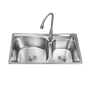 K-8245 Stainless Steel Double Bowl Sink,Milano Kitchen Sinks,Square ...
