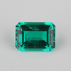 High quality 8x10mm emerald cut hydrothermal synthetic emerald for jewelry .