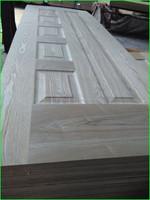 MDF board natural veneer molded wood door skin