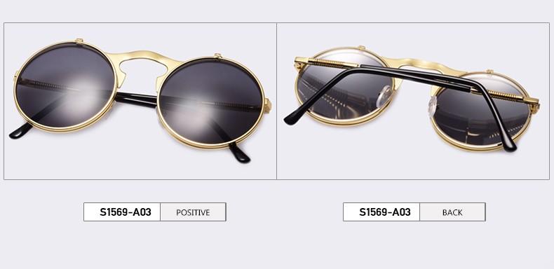 Vintage Steampunk Sunglasses Round Designer Sunglasss Net