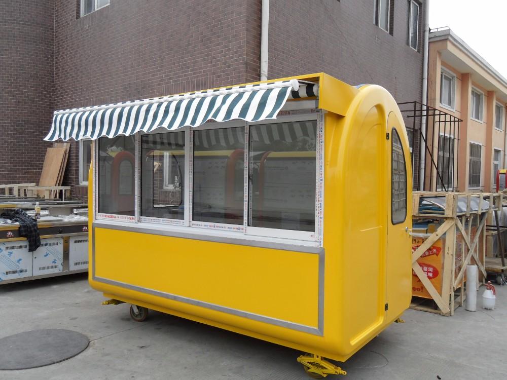 Yieson Fast Food Hot Dog Concession Coffee Kitchen Truck Kebab Skewer Trailer