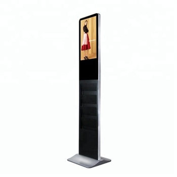 Indoor newspaper kiosk 21.5'' digital media sound vertical lcd advertising player
