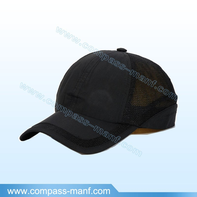 Guangzhou factory classic sports plain thin mesh baseball caps