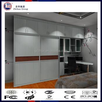 Zhuv New Design Sliding Door Wardrobe With Study Table