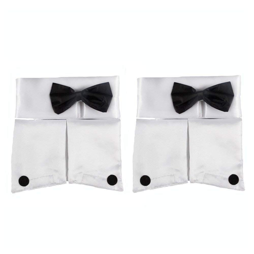 Forum Women/'s Costume Collar Bow Tie and Cuff Set MALE STRIPPER CHIPPENDALE KIT