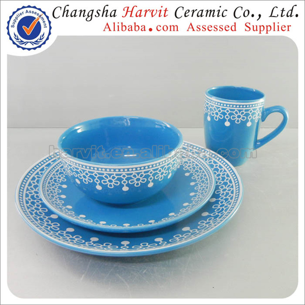 Wholesale 16pcs Stoneware Dinnerware set with Christmas Decoration Blue/Yellow/Red Colorful mexican  sc 1 st  Alibaba & Wholesale 16pcs Stoneware Dinnerware Set With Christmas Decoration ...