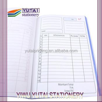 Cheap Bank Bill Printing Vista Print Invoice Books Bill Book Design