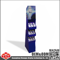 SUNSG ECO-friendly floor corrugated cardboard POP display stand for Vitamin