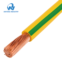 Factory Price 6mm 16mm 35mm Bare Copper Yellow Green Earth Grounding Wire Cable