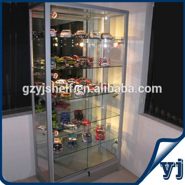 Exhibition Display Cabinet : Functional tempered glass display shopping mall and