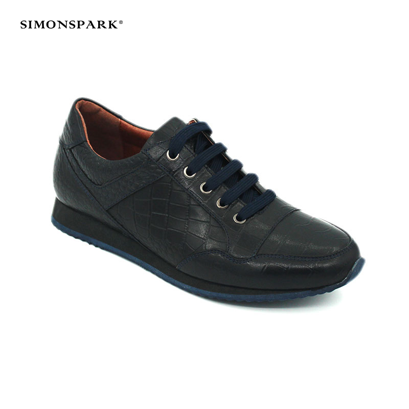 leather safety men new 2018 type for fashionable sport shoes blue aH4wZE