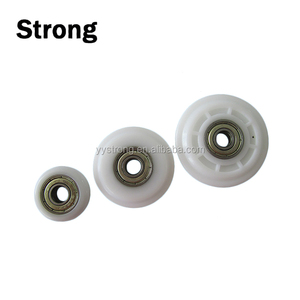 standard high quality Plastic Pulley Bearing Round Guide Groove Rope Sliding Door Gate Wheel Roller