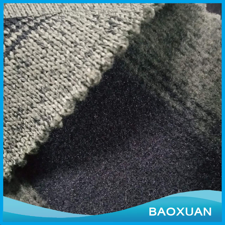 Knit fleece fabric 100%polyester hacci knit fabric sweater soft feeling winter dress low price