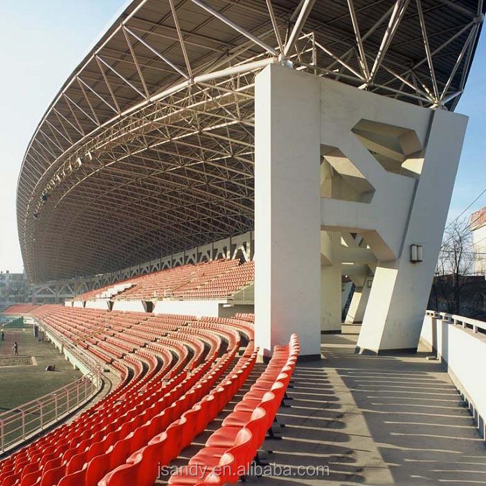 Long Span Stadium Bleacher Roof Steel Structure Design