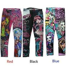 Hot Sale New Halloween Monster High Cartoon Printed Children Kids Girls Pants Leggings