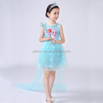 (New) Christmas Elsa Dress Cosplay Costume Kids Princess Birthday Anna  Dresses for Girl of d17ca206877d