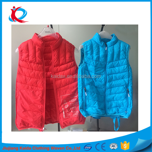 lightweight feather down jacket women's down filled jacket and mens down vest