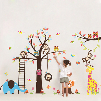 Removable large size kids wall stickers home decor