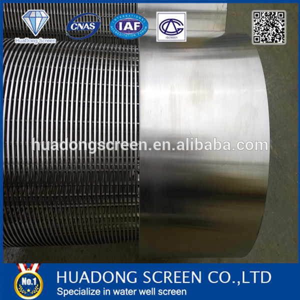 7 5/8 inch Stainless Steel Wire Mesh Screen Pipes / Johnson Well Screen