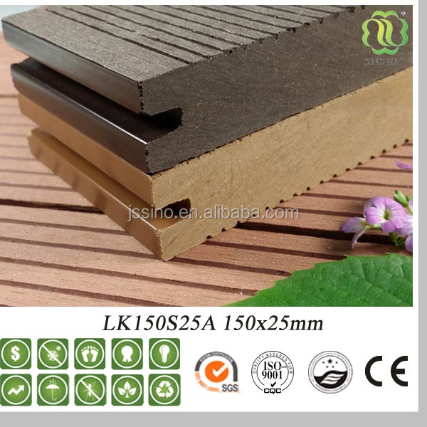 outdoor solid wood plastic composite WPC decking/flooring
