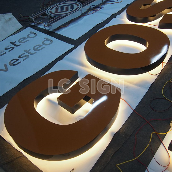China manufacturer alphabet Sign desktop office logo signs with high quality