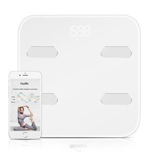 CE FCC approved high accuracy 14 data body composition analyzer bluetooth electronic smart weighing scale