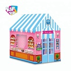 pink pop up sweets shop candy house funny baby tent for pretend play