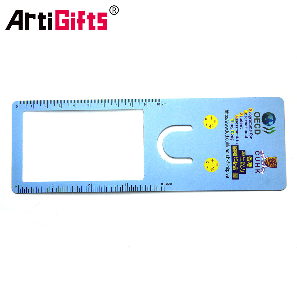 Artigifts Factory Promotional Plastic Custom Ruler Book Mark Bookmark