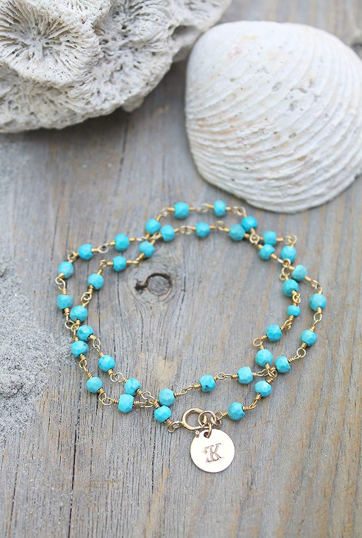 Viva Handmade Seed Beaded Turquoise Blue Maroon Bracelet B-14009