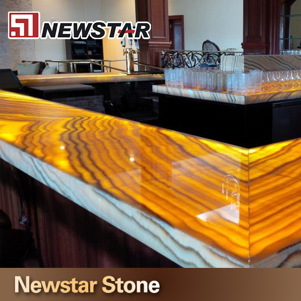 Hot China Products Wholesale Backlit Onyx Glass Countertop