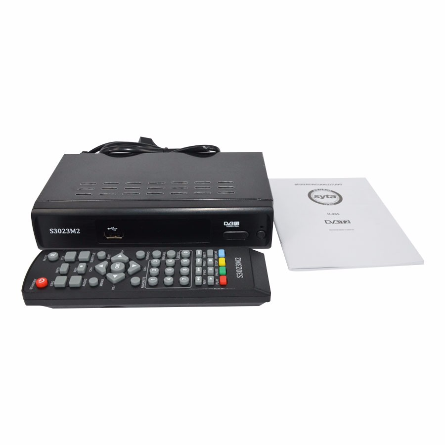 SYTA S3023M2 HD Free to air dvb t2 support usb pvr mpeg 4 h264 h265 set top box digital tv receiver