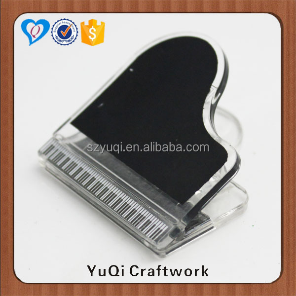 office binding paper clip piano plastic magnetic clip