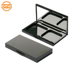 6 colors plastic custom empty metalized rose gold eyeshadow palette case