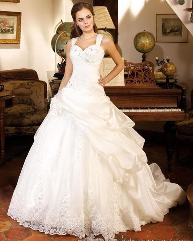 Wedding Gown On Sale: Lustrous Satin Wedding Dress Sweetheart A Line Wedding