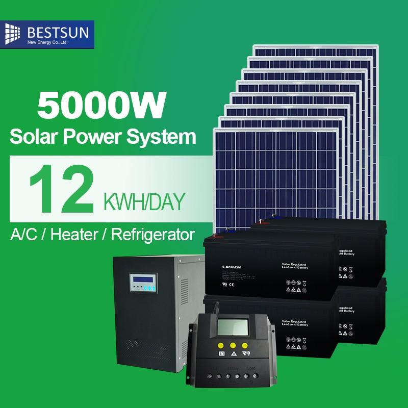 bestsun 5000 watt solarstromerzeugungssystem f r zuhause