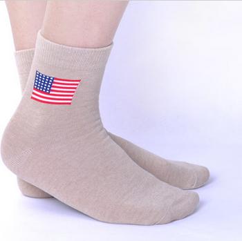 d14bb91ccc39 Boys Wearing American Flag Printed Breathable Men Nude Dress Socks ...