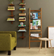 design in wood book shelf ladder