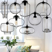 Hand Blown Smoke Grey Glass Hanging Lamp Zhongshan Stained Glass Lamps Wholesale Hotel Modern Glass Pendant Light