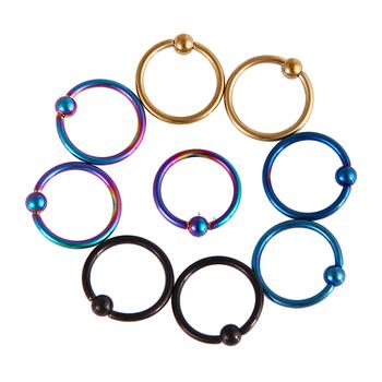 Ball Circular Barbell Horseshoe Earrings Skin Colored Nose Rings