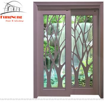 Fd0027 Modern Design Kitchen White Paint Solid Wood Frame Sliding Gl Door System