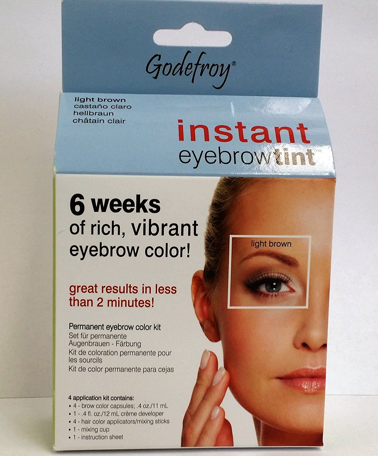 Buy Godefroy Instant Eyebrow Tint Permanent Eyebrow Color ...