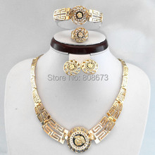 18K Gold Plated Or Platinum Plated Jewelry Sets Medusa Hot Selling Lion Head Myth Necklace Sets