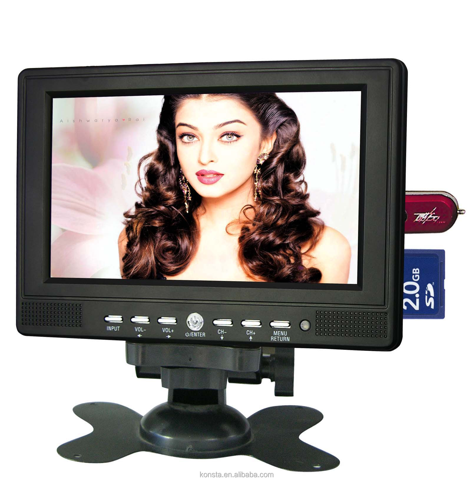 7 inch Color TFT-LCD Portable Multimedia <strong>TV</strong> with USB SD Card