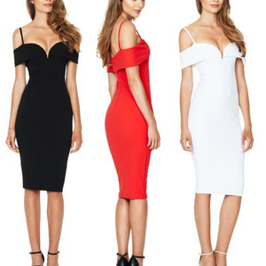 Refresh Black Semi Cup Pad Package Hip Dresses Bare Shoulder Good Elasticity Designer Dress