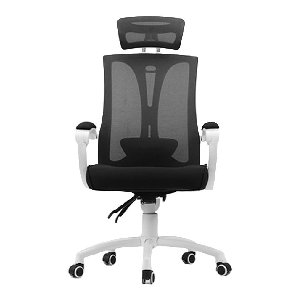 QFFL jiaozhengyi Swivel Chair,Computer Chair Ergonomic Chair Home Chair Reclining Esports Swivel Chair Office Chair (Color : White - no Foot Support)