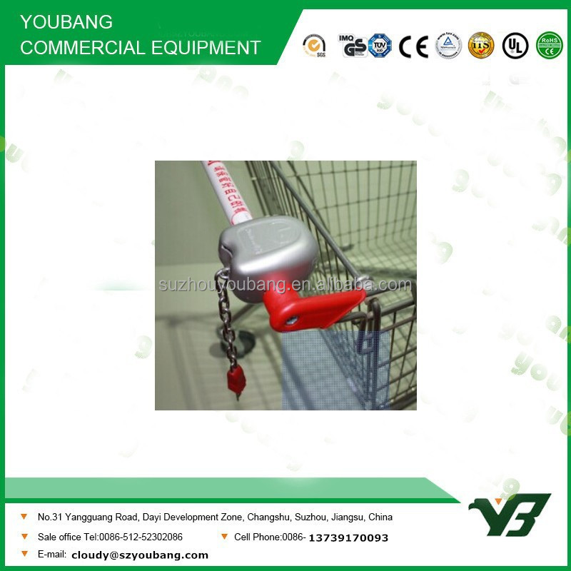 Hot sell good cheap shopping cart coin lock / supermarket trolley(YB-A27)