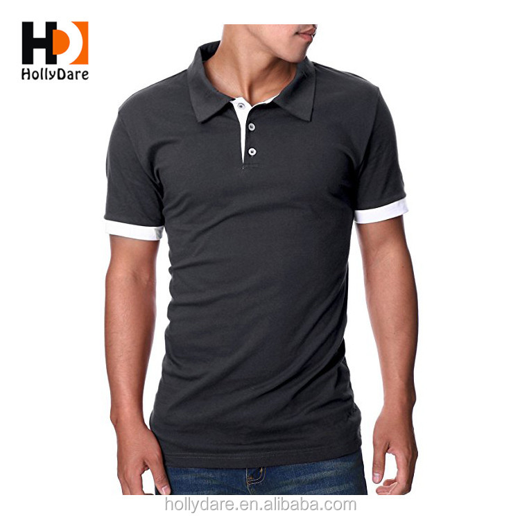 Bas Prix Custom Design Blanc Égyptien Coton Slim Fit Polo Shirt