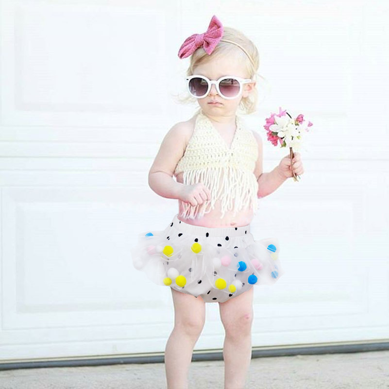 0-4 Years Girls Cotton Tutu Bloomer Cute Baby Girls Icepop Kniting Short Girls New Polka Dots Panties