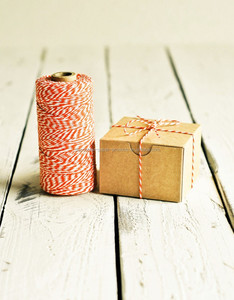 240 yards spool Baker's Twine in Orange - 240 Yards - Halloween Fall Autumn String Cord Ribbon Gift Wrapping Packaging